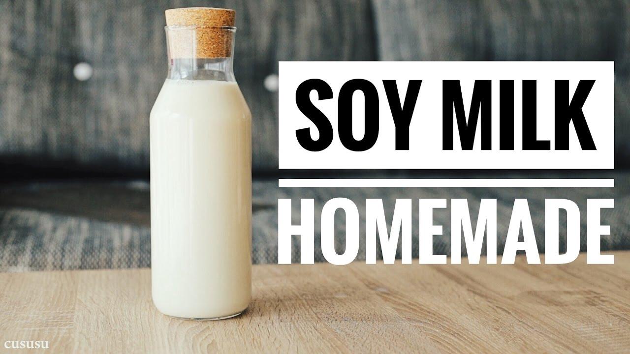How to make soy milk | cách làm sữa đâu nành tại nhà [CUSUSU ...
