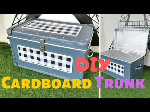 DIY Cardboard Storage Trunk /Box | Best out of waste Idea
