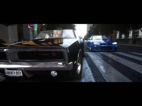 Gta Iv Skyline R34 Vs 1969 Charger Street Race Youtube
