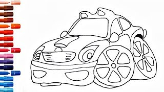 Drawing for Kids How to Draw Car Coloring Pages Police Car and other pictures for Childrens