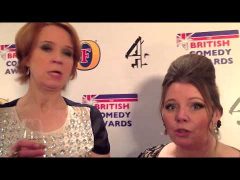 with Vicki Pepperdine & Joanna Scanlan  The British Comedy Awards