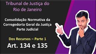 TJ-RJ - Consolidação Normativa Corregedoria - Art. 134 e 135