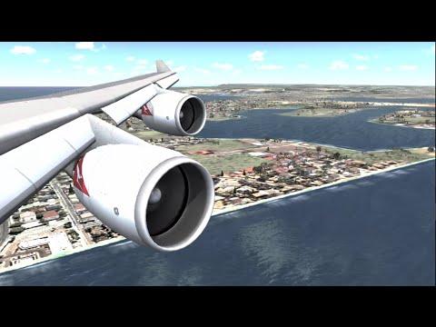 [FSX] EXTREME GRAPHICS | OVERCLCOCKED i7-6700K & MSI GTX970 | QANTAS 747  SCENIC SYDNEY APPROACH
