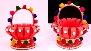DIY: Best Reuse of Plastic Bottles - Make Basket from Foam Sheet and Plastic bottle - Craft Ideas