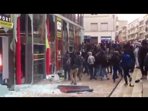 Nantes : Des jeunes attaquent et pillent un magasin Go Sport