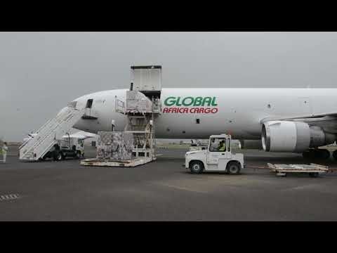 Medical supplies arriving in Sana'a airport 14 8 B roll