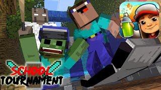 - Monster School Tournament Subway Surfer Minecraft Animation