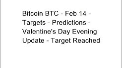 Bitcoin BTC - Feb 14 - Targets - Predictions - Valentine's Day Evening Update - Target Reached
