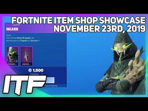 Fortnite Item Shop *NEW* SKLAXIS SET! [November 23rd, 2019] (Fortnite Battle Royale)