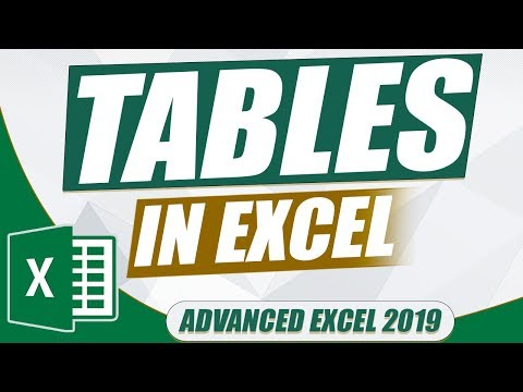 Advanced Excel 2019: Tables in Excel (Microsoft Excel Tutorial) thumbnail