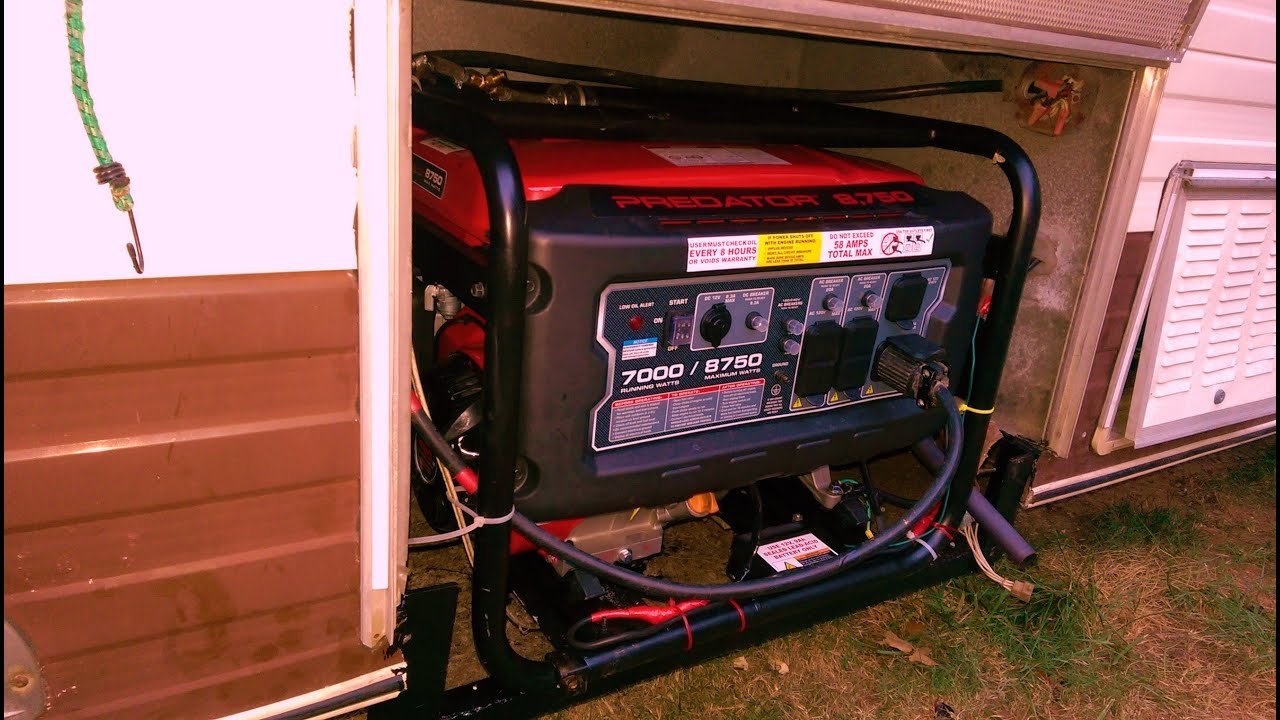 Wiring Inverter Generator Rv Diy Enthusiasts Diagrams How To Wire An 7000 Watts Harbor Freight Youtube Rh Com Connecting Solar Diagram