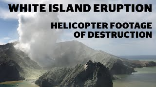White Island eruption - Helicopter footage of destruction | nzherald.co.nz