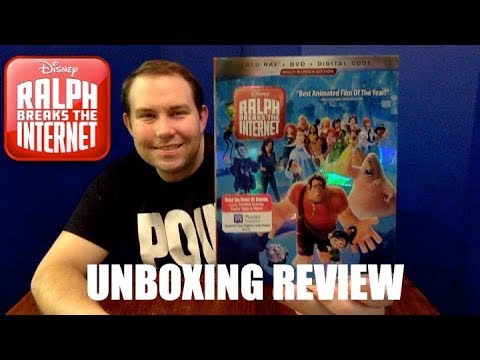 """Blu-Ray Unboxing Review Disney's """"Ralph Breaks The Internet"""""""