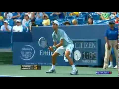 Novak Djokovic v Juan Monaco | Western & Southern Open 2013