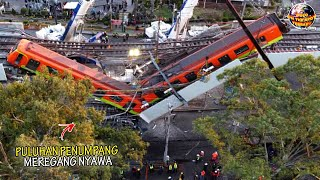 Download Tragedi!! Ambruknya Jembatan Kereta Api Tengah Kota, Timbun Apapun di Bawahnya