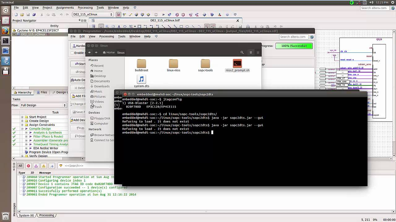 How to boot Embedded Linux on Altera NIOS II