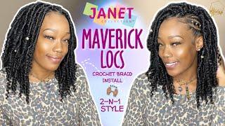 "12"" MAVERICK LOCS 😍 Lightweight Faux Loc Bob | Versatile Crochet Braids 🔥 Feat. Janet Collection"