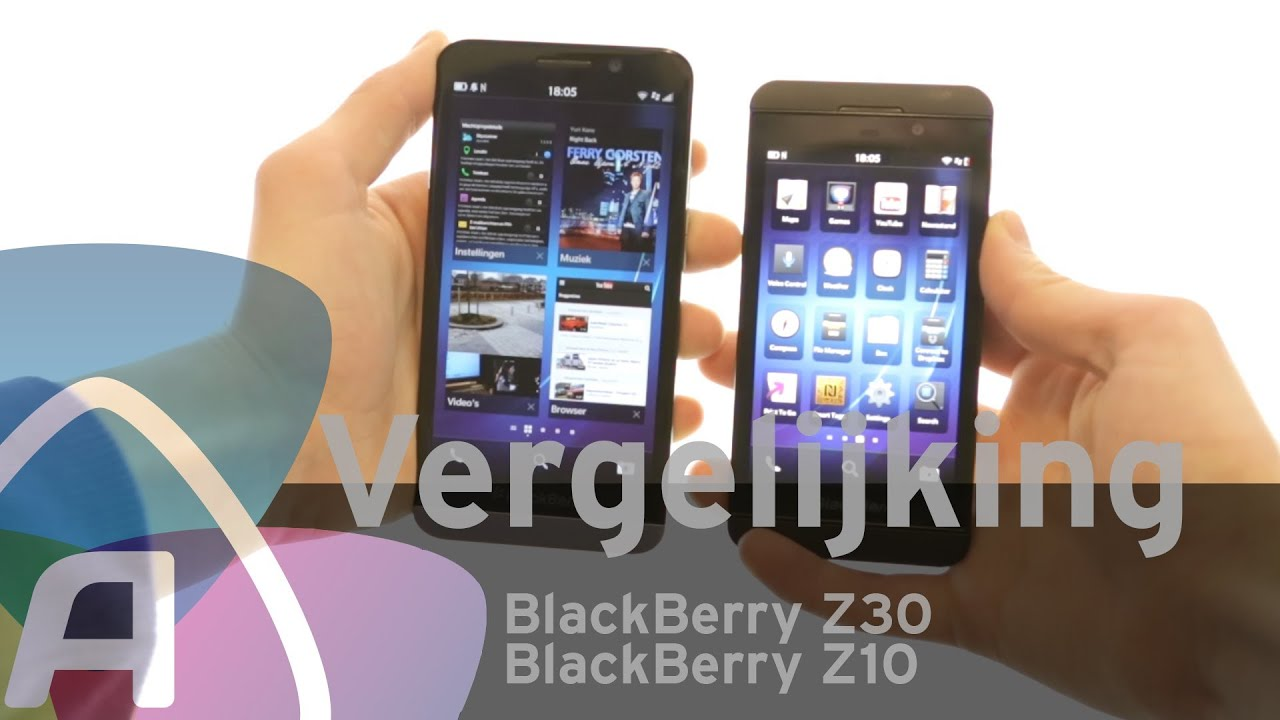 Blackberry z30 vs blackberry z10 review (dutch)   youtube