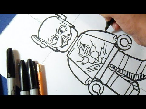 Cómo Dibujar A Flash De Lego How To Draw The Flash Youtube