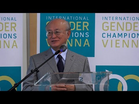 IAEA Director General Yukiya Amano Becomes a Gender Champion