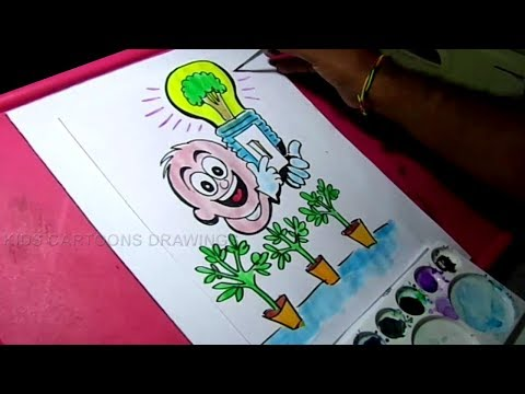 How to Draw Save Energy / Save Power Color poster Drawing for Kids