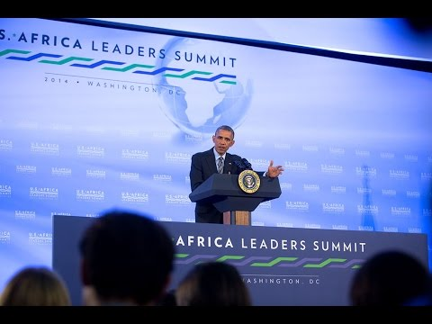 President Obama Holds a Press Conference at the U.S.-African