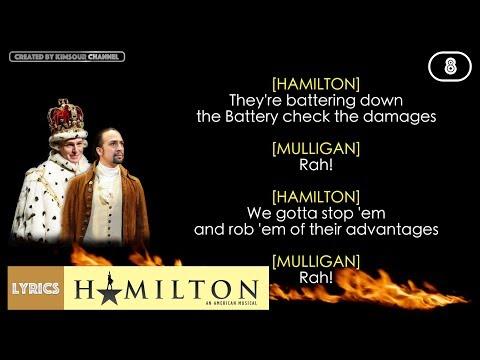 #8 Hamilton - Right Hand Man (VIDEO LYRICS)