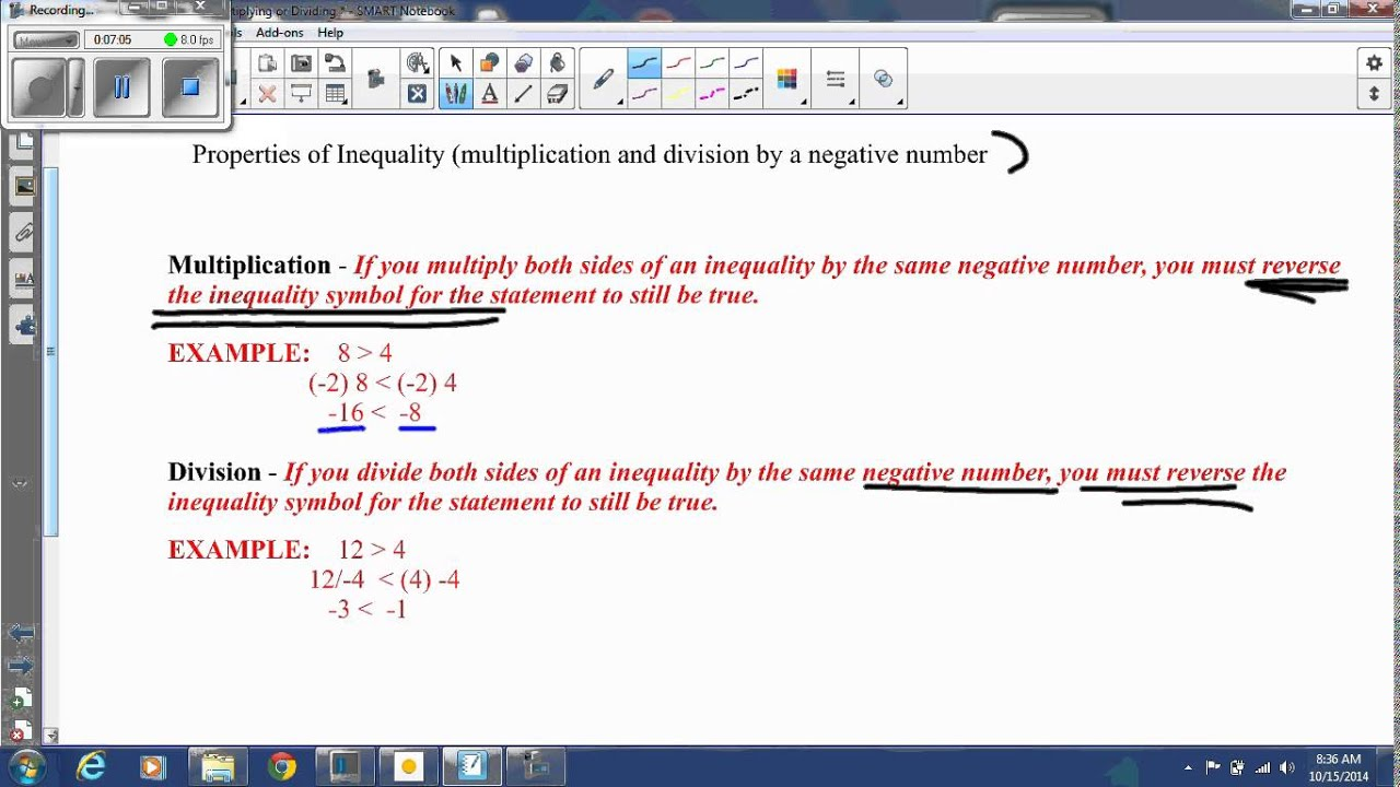 Lesson 2 3 Solving Inequalities By Multiplying Or Dividing