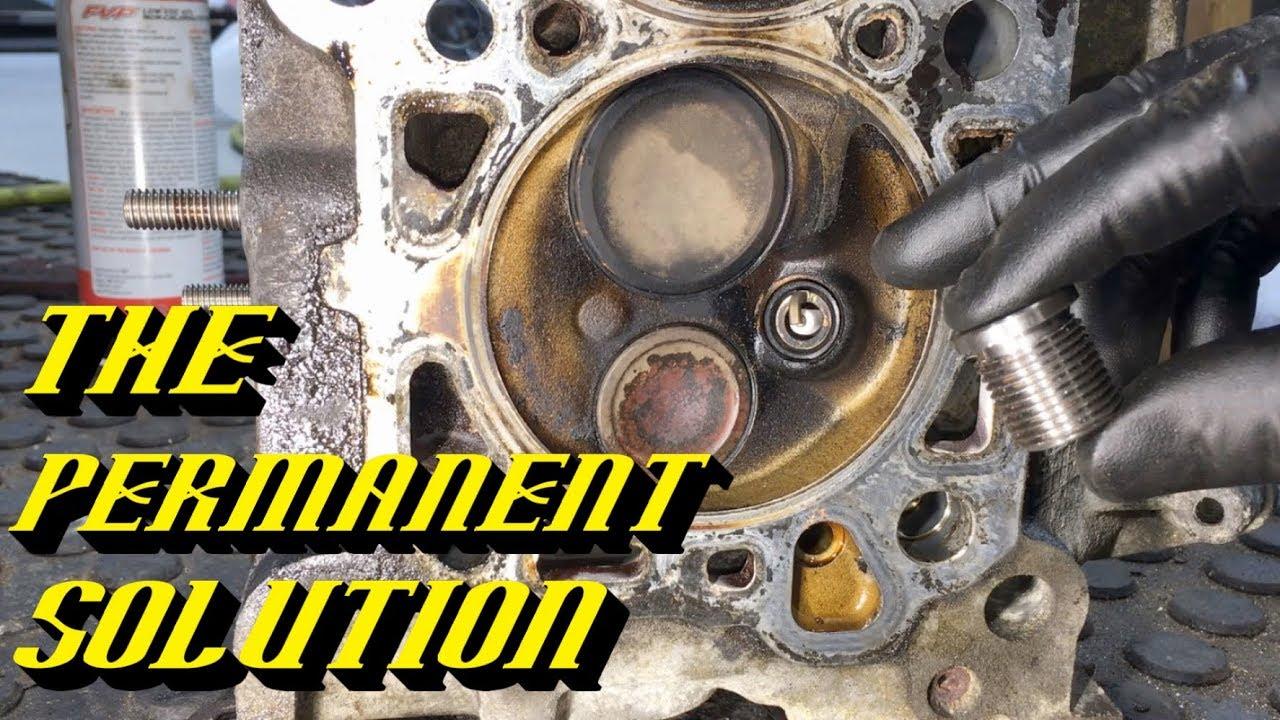 medium resolution of ford 4 6l 5 4l 6 8l 2v triton engines blown out spark plug repair update