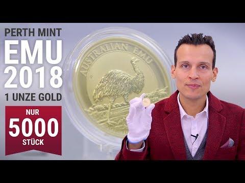 1 Unze Gold - Perth Mint Emu 2018 - Nur 5.000 Stück