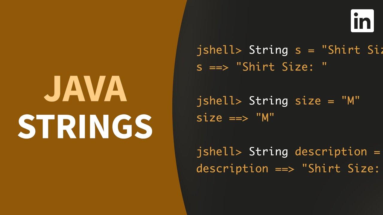 Java Tutorial - Create and Concatenate STRING Values
