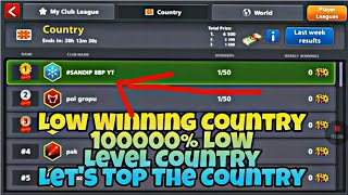 8 Ball Pool Low winning Country in Club/Leauge || 8BP Version Update | By Crazy Supreme Gamer