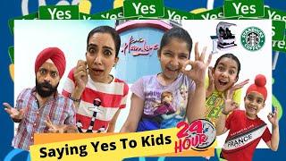 Saying Yes To Kids - 24 Hours Challenge   Ramneek Singh 1313   RS 1313 VLOGS