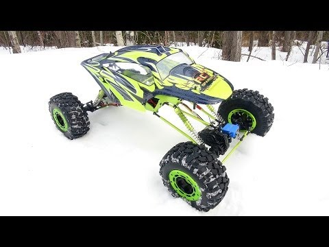 RC ADVENTURES - Huge Exceed RC MaxStone 1/5th Scale 4x4 Waterproof Crawler