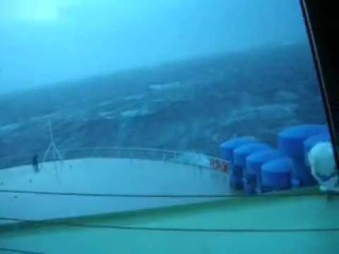 50 degree rolls aboard Car Carrier, Sea Year