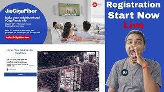 How to Register Jio Giga Fiber BroadBand - Live Registration in Jio.com & My Jio App - जल्दी करो !!