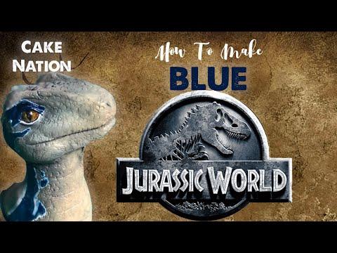 How To Make Velociraptor Blue Cake Topper From Jurassic World Dinosaur