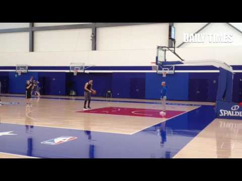 Ben Simmons burying foul shots after #sixers practicr