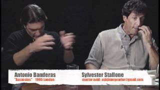 Antonio Banderas and Sylvester Stallone 1995