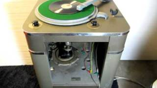 RCA 70-C1 Transcription Turntable 動作確認映像2