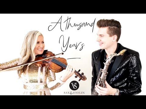 """""""A Thousand Years"""" MOST BEAUTIFUL You've EVER Heard! Sax And Violin (Instrumental Cover) (2019)"""