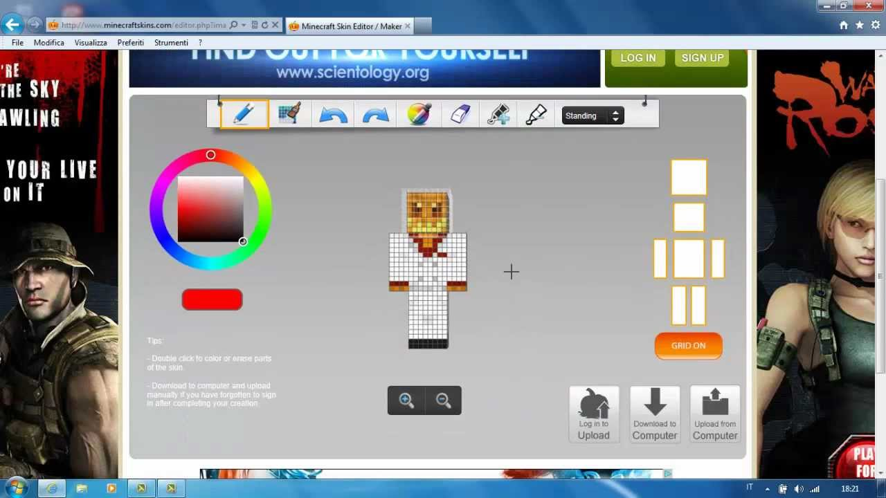 Come creare una skin per minecraft online youtube for Creare piantine online