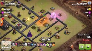 Clash of Clans 3 Star Attacks #38 // AQ Charge Dragons
