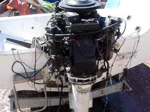 Johnson V4 140hp 1985 outboard  YouTube