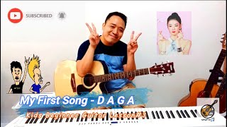 30 days challenge: Kids / Children Beginner Guitar Lesson #3 - My First Song using DAGA Chords