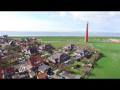 Den Helder Holland beach landscape Aerial movie
