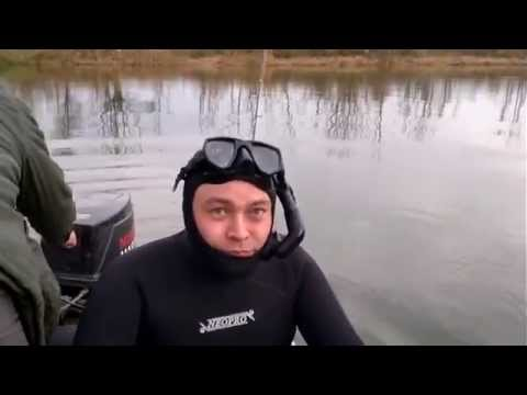 Как тяжело нырять первый раз! Прикол на подводной охоте.
