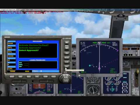 FSX tutorial: How to use my GPS for NAVIGATION AND APPROACH???!!!
