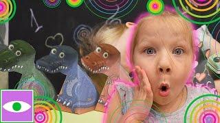 УДИВИТЕЛЬНАЯ ИЛЛЮЗИЯ 3D ФИГУРКИ своими руками. Динозавр Тирекс. the illusion of 3D figures