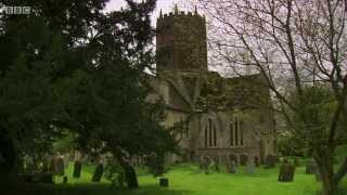 Uffington church, with bells ringing. From Return to Betjemanland with AN Wilson
